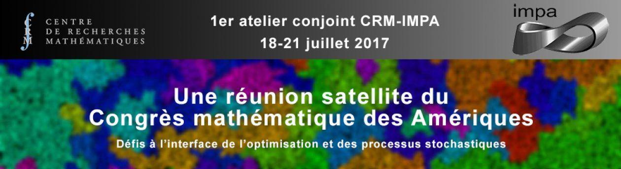 Premier atelier conjoint CRM-IMPA